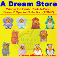 click for FULL SET OF 10PC WINNIE THE POOH PEEK-A-POOH FIGURE COLLECTION SERIES 2 SPECIAL REPRODUCTION detail